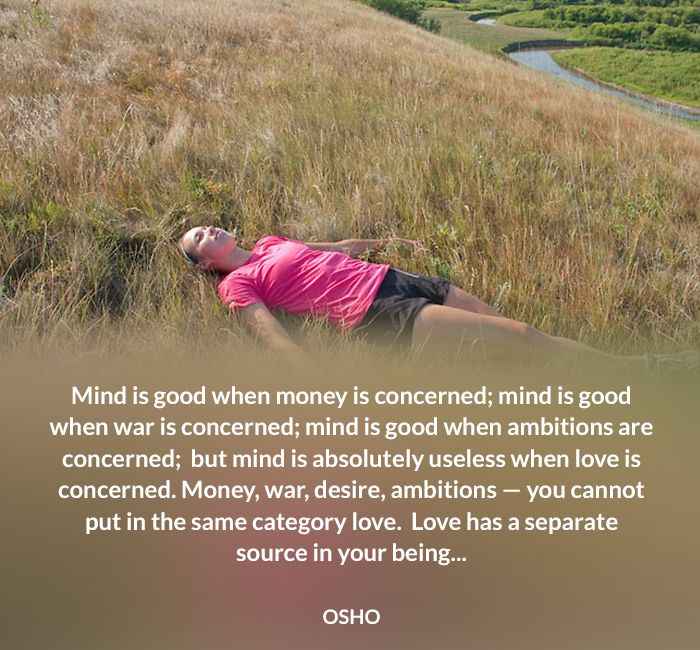 ‎ambition‬ being good love mind money osho quote source useless war