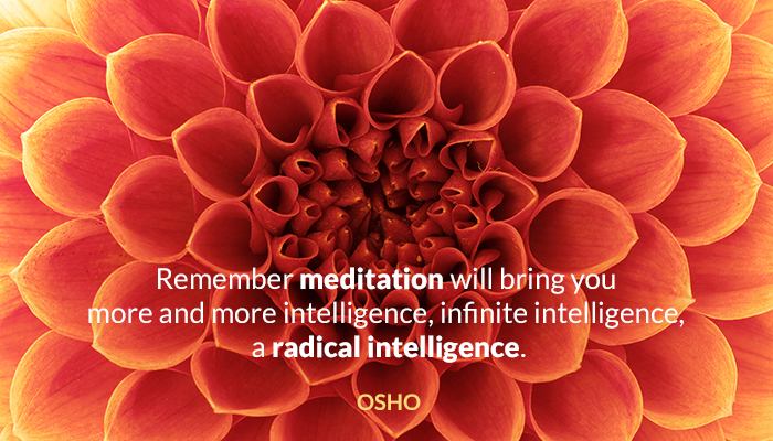 intelligence meditation osho