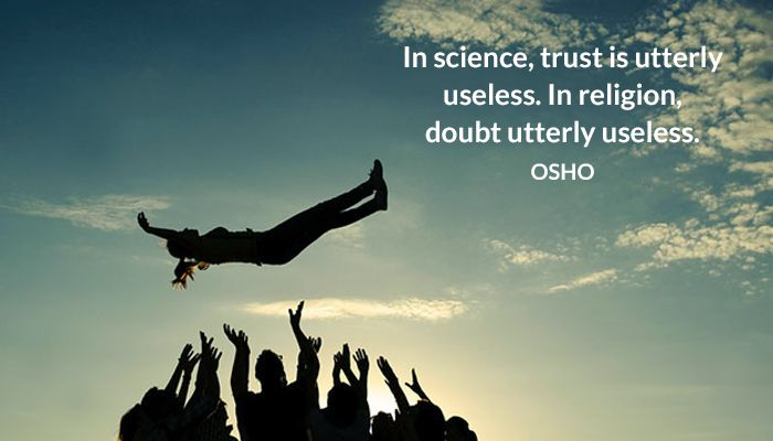doubt osho science trust useless