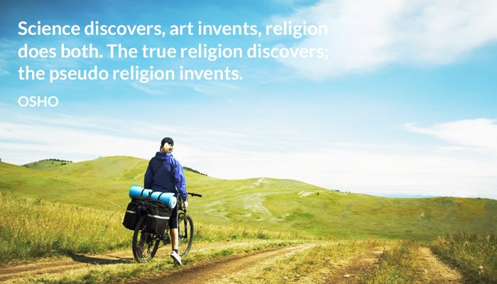 art discover invent osho pseudo religion science