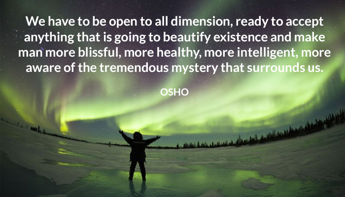 accept aware beauty blissful dimension healthy intelligent open osho