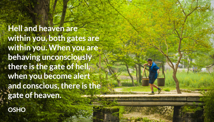 conscious gate heaven hell osho unconscious within