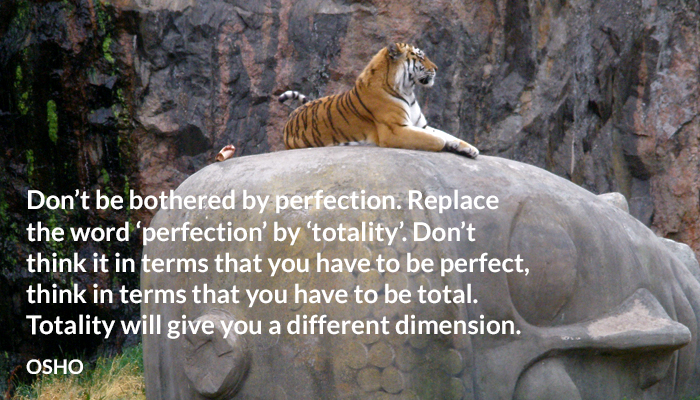 dimension osho perfection totality