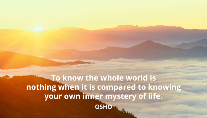 compared inner knowing life mystery nothing osho world