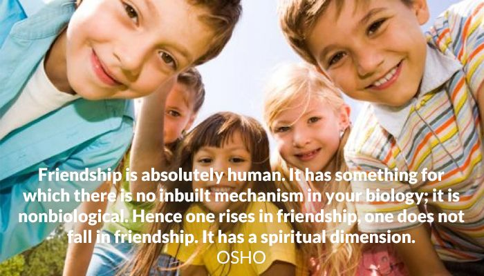 biology friendship human inbuilt mechanism osho spiritual