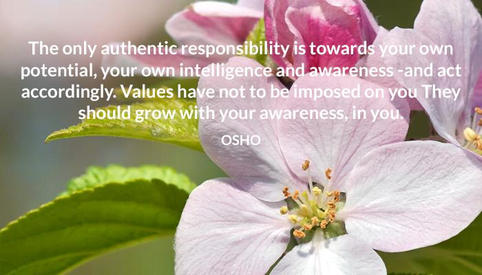 awareness grow intelligence osho potential values