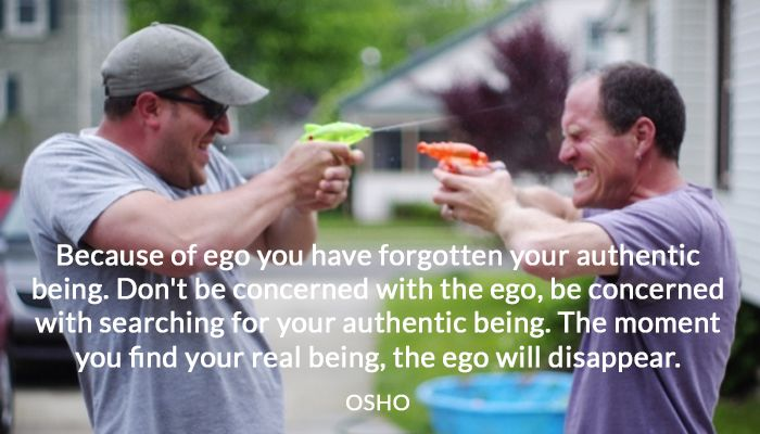 authentic being ego osho real searching