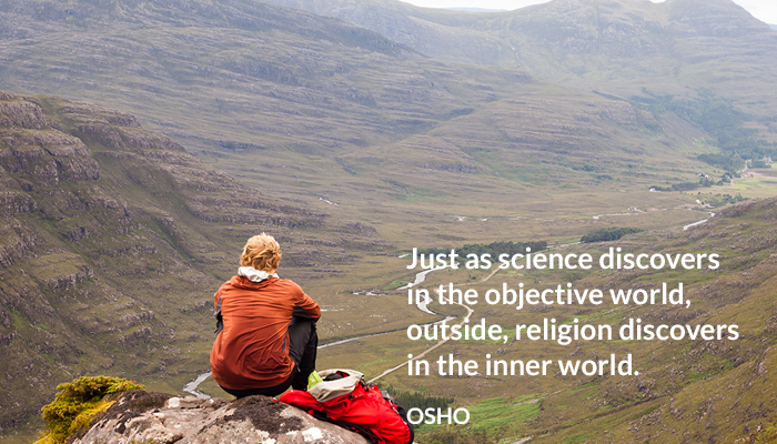 discover inner objective osho outside religion science world