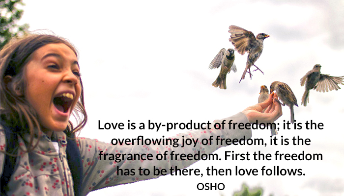 fragrance freedom joy love osho overflowing