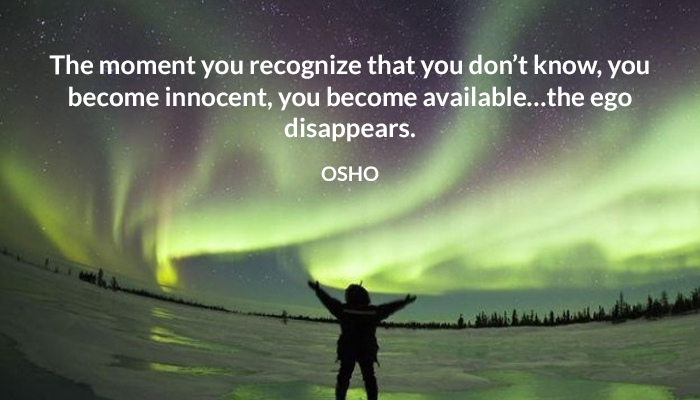 available disappear ego innocent moment osho recognize