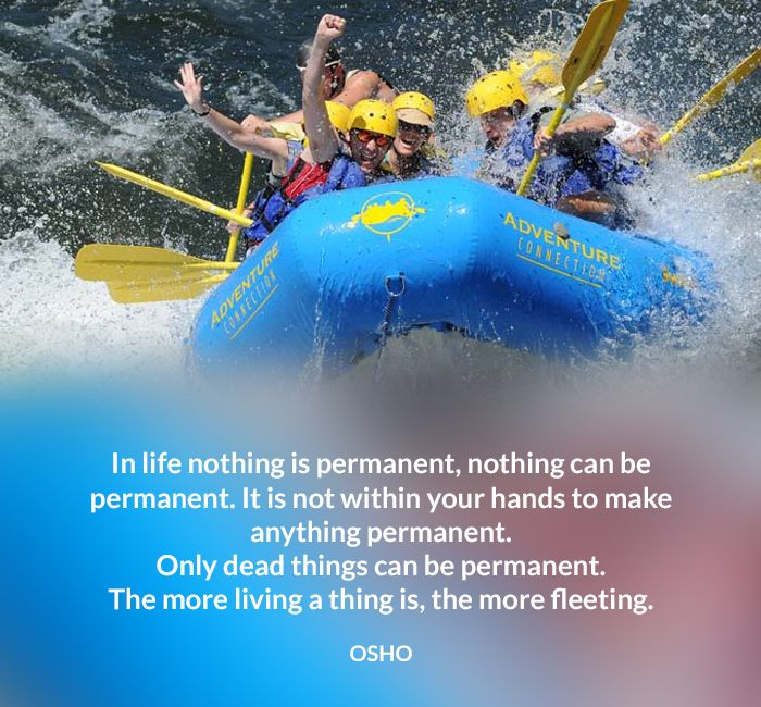 dead fleeting hands living nothing osho permanent quote within