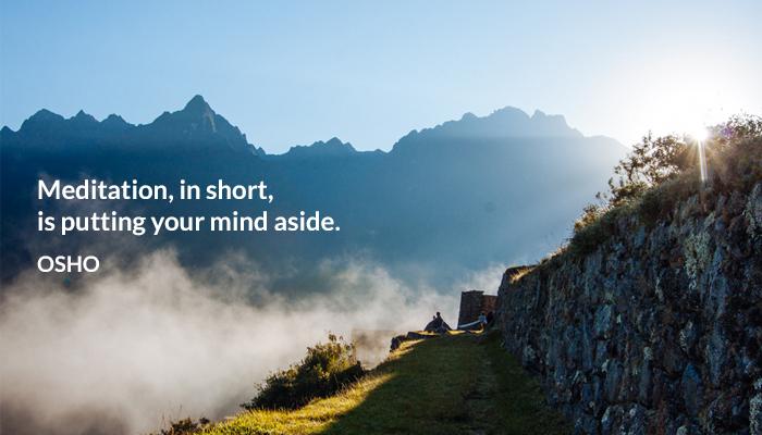 meditation mind osho