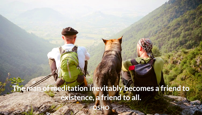 all existence friend man meditation osho