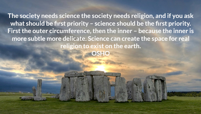 earth inner osho priority religion science society space