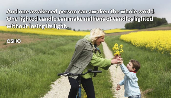 awakened candle light lighted losing millions osho person whole without world