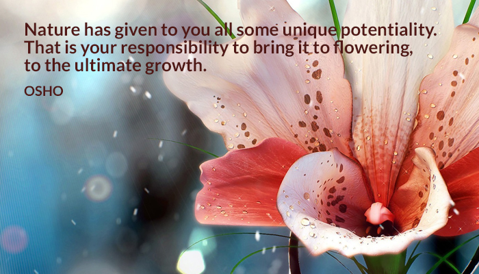 bring flowering growth nature potentiality responsibility ultimate unique