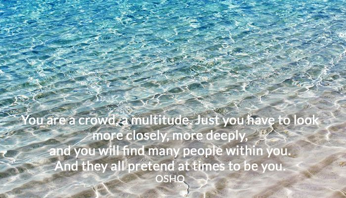 crowd deeply multitude osho people