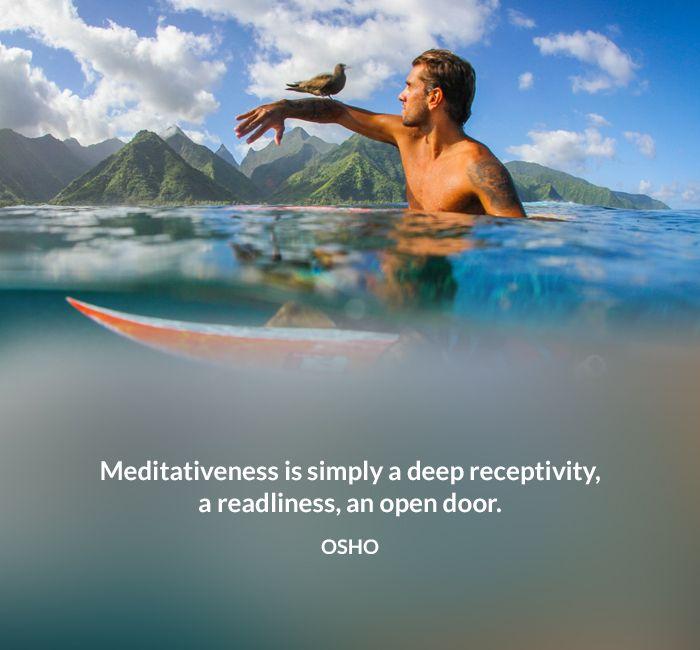deep door meditative open osho quote receptivity