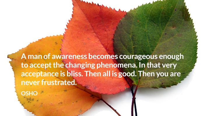 accept awareness bliss change courageous frustrate good man osho oshoonchange