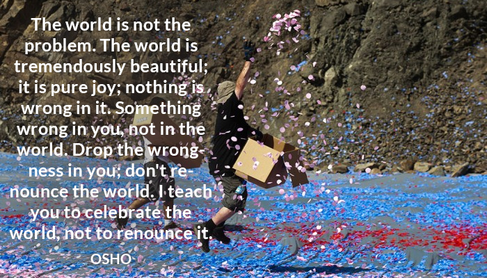beautiful celebrate joy osho problem renounce world