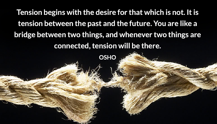 bridge connected future osho past tension things two