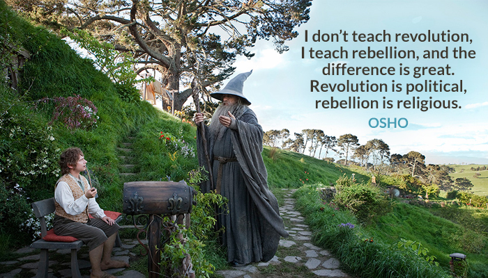 difference great not osho political rebellion religious revolution teach