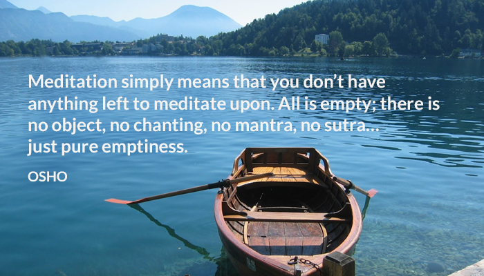 chanting empty meditation object osho sutra
