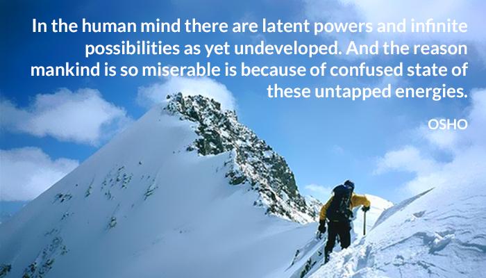 confused energies human infinite mankind mind osho possibilities power