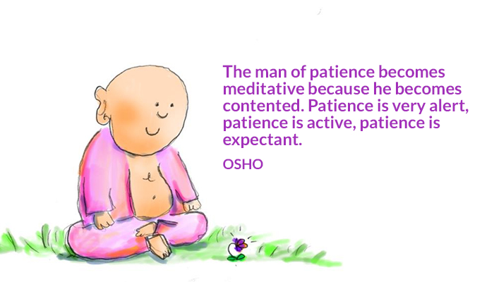 active alert contented expectant man meditative osho patience