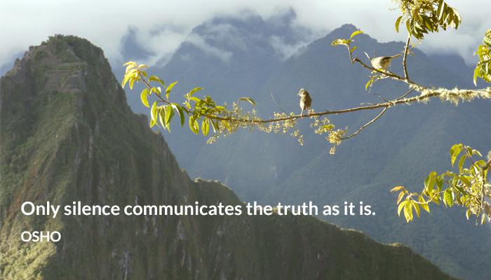 communicate osho silence truth