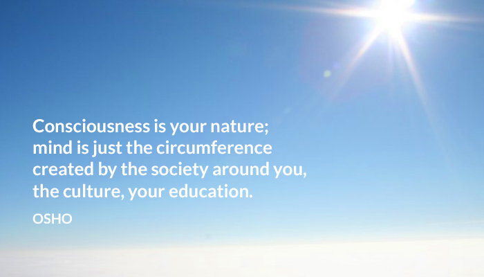 circumference consciousness culture education mind nature osho society