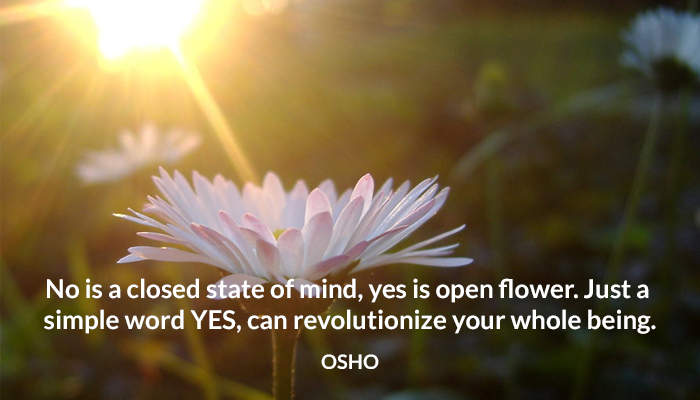 being closed flower mind no osho revolutionize state word yes