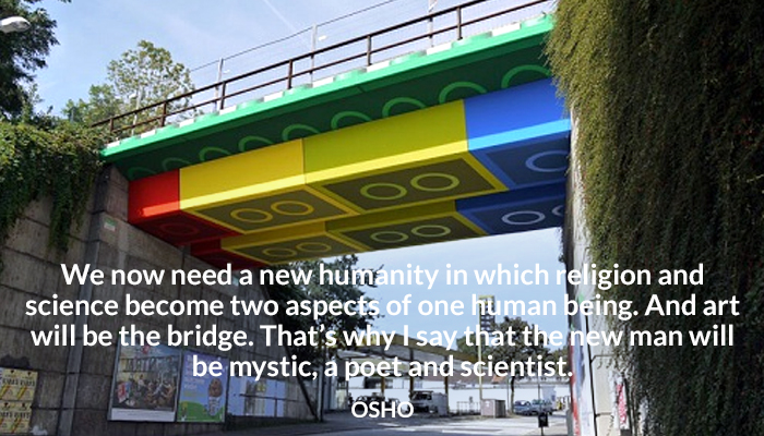 art bridge humanity mystic osho poet religion science scientist